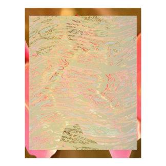 ピンクの賞賛-バラの花びらの芸術 レターヘッド