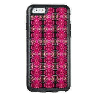 ピンクの赤いおもしろいの代わりとなる花の錯覚のプリント オッターボックスiPhone 6/6Sケース