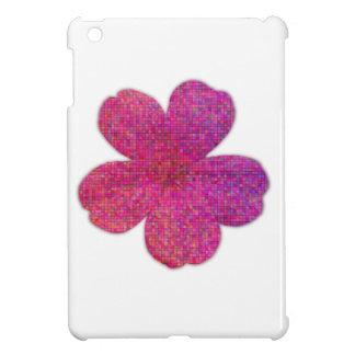 ピンクの赤いモザイクゼラニウムの花 iPad MINIケース