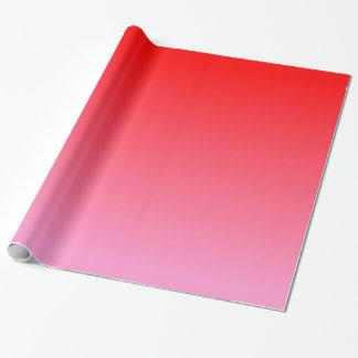 ピンクの赤い勾配 ラッピングペーパー