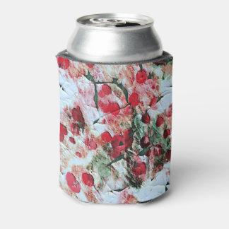 ピンクの赤い汚れた水玉模様のグランジな腐食 缶クーラー