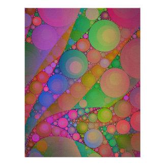 ピンクの赤い緑の抽象芸術 レターヘッド