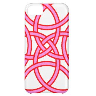 ピンクの赤のTriquetraの華美な十字 iPhone5Cケース