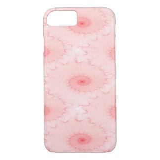 ピンクの赤面のオウムガイの抽象芸術 iPhone 8/7ケース