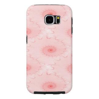 ピンクの赤面のオウムガイの抽象芸術 SAMSUNG GALAXY S6 ケース