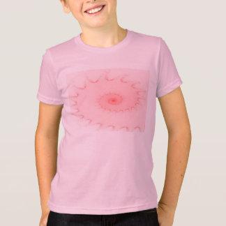 ピンクの赤面のオウムガイの抽象芸術 Tシャツ