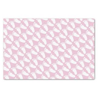 ピンクの足跡の女の子のベビーシャワーのギフトのティッシュペーパー 薄葉紙