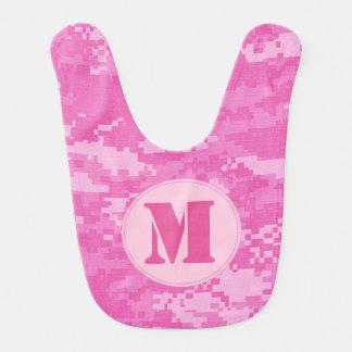 ピンクの軍隊ACUの迷彩柄のカムフラージュパターンベビー用ビブ ベビービブ