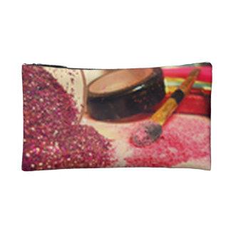 ピンクの輝きのグリッターの化粧品のバッグ コスメティックバッグ