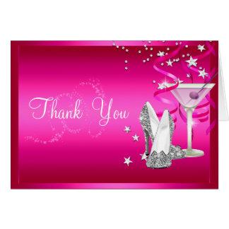 ピンクの輝きのサンキューカード カード