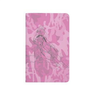 ピンクの迷彩柄のバレルのレーサー ポケットジャーナル