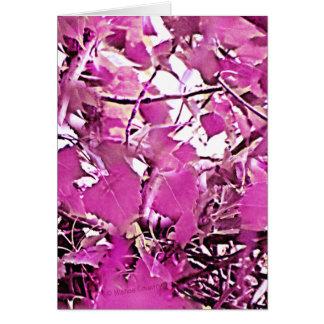 ピンクの迷彩柄3 カード