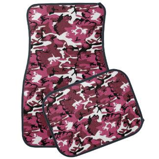 ピンクの迷彩柄 カーマット