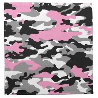 ピンクの迷彩柄 ナプキンクロス