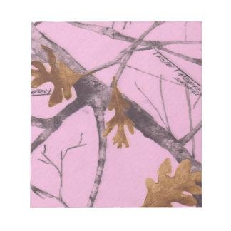 ピンクの迷彩柄 ノートパッド