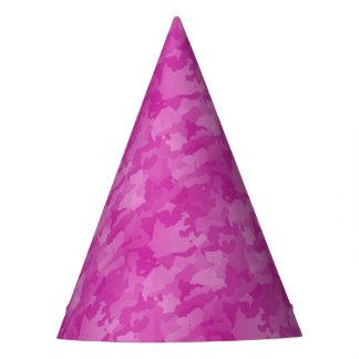 ピンクの迷彩柄 パーティーハット