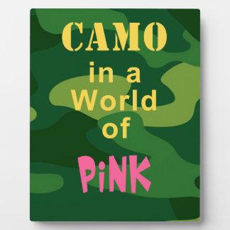 ピンクの迷彩柄 フォトプラーク