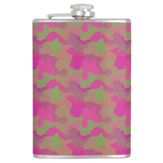 ピンクの迷彩柄 フラスク