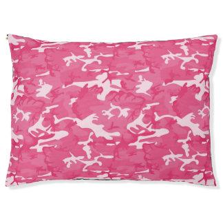 ピンクの迷彩柄 ペットベッド