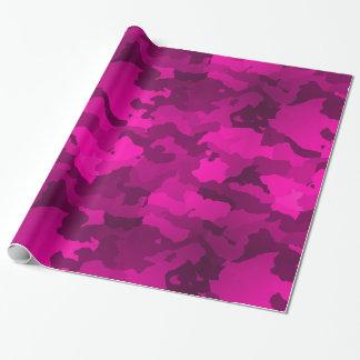 ピンクの迷彩柄 ラッピングペーパー