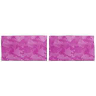 ピンクの迷彩柄 枕カバー