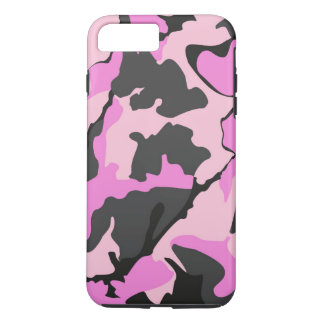 ピンクの迷彩柄、iPhone 7のプラスの堅い場合 iPhone 8 Plus/7 Plusケース