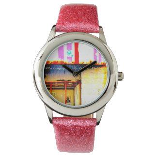 ピンクの都市 腕時計