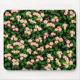 ピンクの野生のばら色の花のマウスパッド マウスパッド