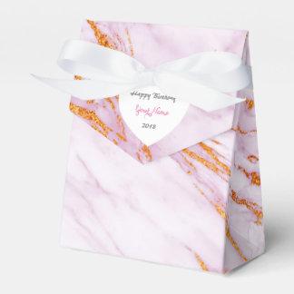 ピンクの金ゴールドの大理石の誕生日の結婚式の引き出物 フェイバーボックス