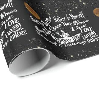 ピンクの金ゴールドの銀の星の包装紙 ラッピングペーパー