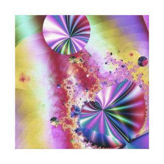 ピンクの金属フラクタルの魔法 キャンバスプリント