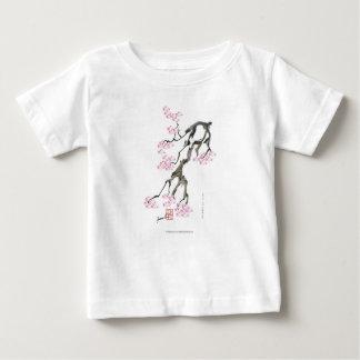 ピンクの金魚を持つ贅沢なfernandesの桜 ベビーTシャツ