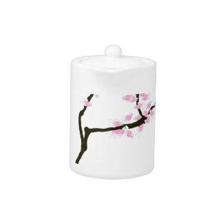 ピンクの金魚、贅沢なfernandesを持つ桜