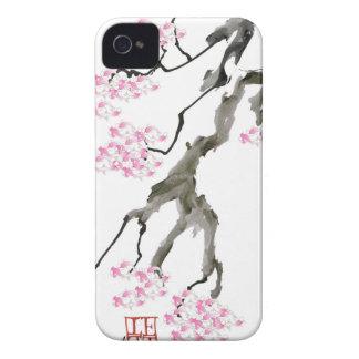 ピンクの金魚、贅沢なfernandesを持つ桜 Case-Mate iPhone 4 ケース