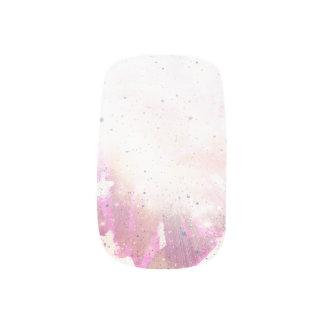 ピンクの銀河系 ネイルアート
