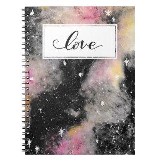 ピンクの銀河系-愛 ノートブック