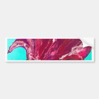 ピンクの開花 バンパーステッカー