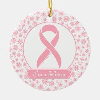 ピンクの雪片の乳癌のオーナメント セラミックオーナメント