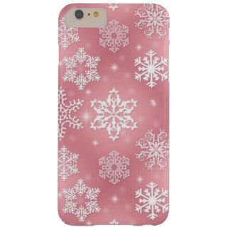 ピンクの雪片のiPhone 6のプラスのやっとそこに場合 Barely There iPhone 6 Plus ケース