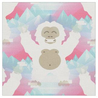 ピンクの雪男の生地 ファブリック