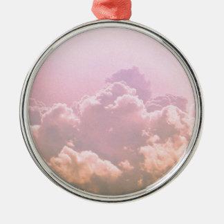 ピンクの雲 メタルオーナメント