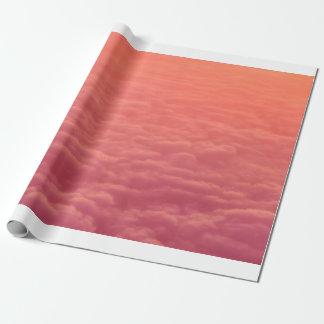 ピンクの雲 ラッピングペーパー