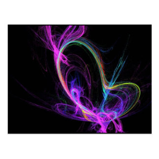 ピンクの電気フラクタル ポストカード