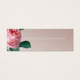 ピンクの霧のばら色の結婚式のウェブサイト スキニー名刺