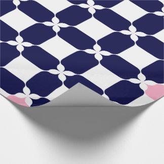 ピンクの青い及び少しビット ラッピングペーパー
