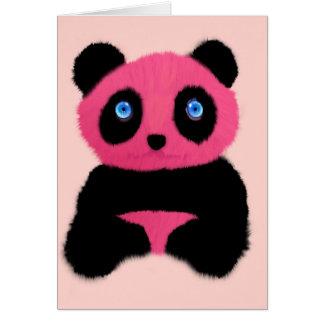 ピンクの青い目のパンダ カード