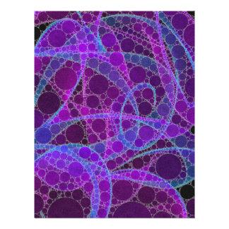 ピンクの青い紫色の抽象芸術 レターヘッド
