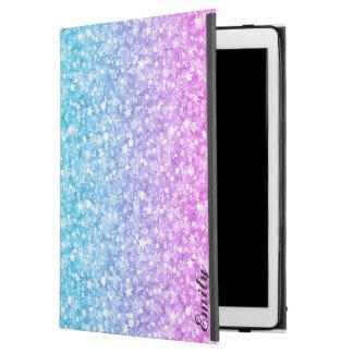 """ピンクの青及び紫色のグリッター iPad PRO 12.9"""" ケース"""