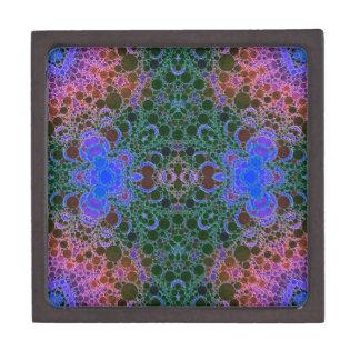 ピンクの青緑の抽象芸術 ギフトボックス