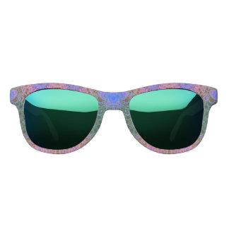 ピンクの青緑の抽象芸術 サングラス